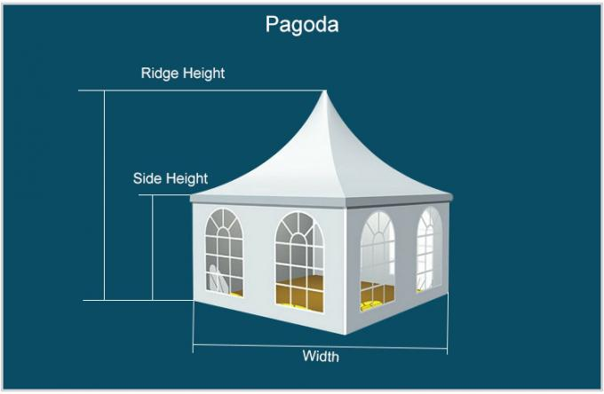Easy Remove High Peak  Pagoda Party Tents White Color Marquee