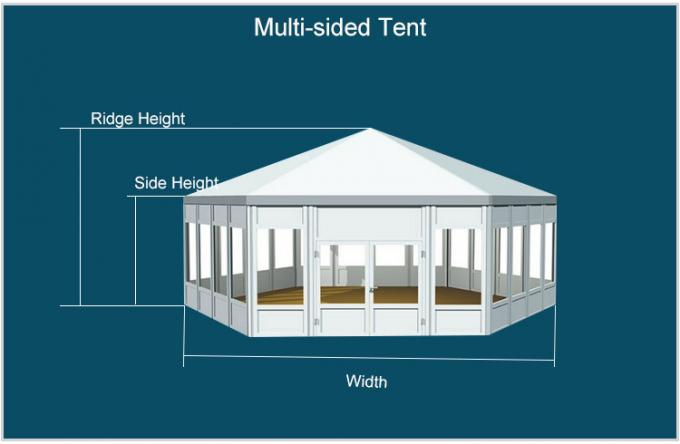 White Mixed Wedding Reception Tents 10m* 30m Aluminum Tents For Exhibition