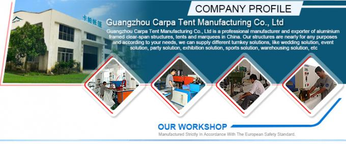 All Weather Industrial Warehouse Tents Waterproof / Fire Retardant