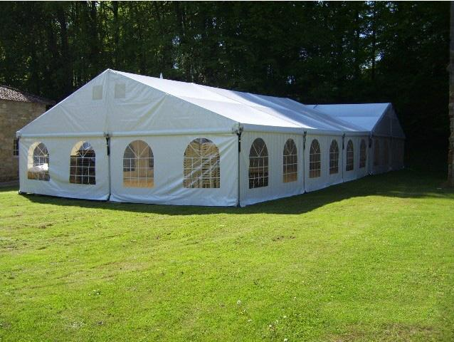 Semi - Permanent Aluminum Structure Outdoor Party Tents Temporary 10mx18m