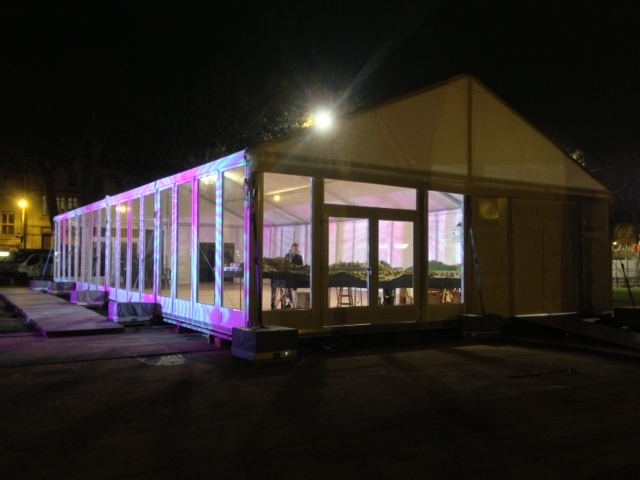 Custom Made Temporary Large Wedding Tents Event Canopy Tent With Glass Wall