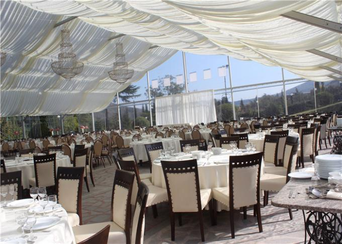 500 People Luxury Transparent Wedding Tent With Clear Roof 100% Waterproof