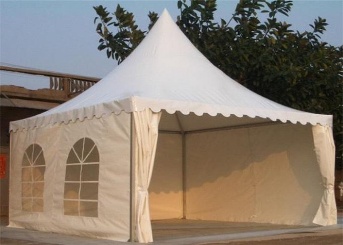 Heavy Duty Clearspan Marquee Pagoda White Event Tent For 50 People