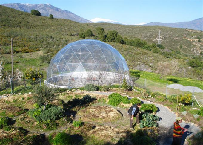 Spacious 20M Diameter Geodesic Dome Tent With Transparent Fabric