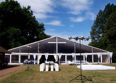 China Modular Aluminium Frame Tents Event Tent White Fabric Cover 100km/h supplier