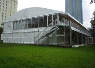 China Rainproof Fireproof Cover Wedding Reception Tents Glass Wall DIN4102 B1/M2/B1 supplier