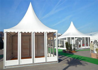 China Small Glass Wall Pagoda Party Tent Hop - Dip Galvanized Steel Connectors supplier