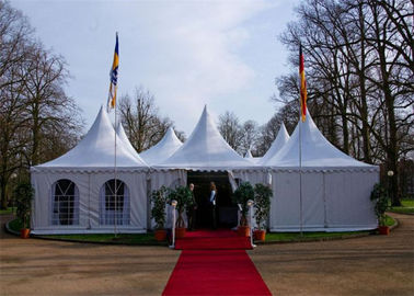 China Festivals Exhibitions Pagoda Tents With Glass Wall Wooden Floor supplier