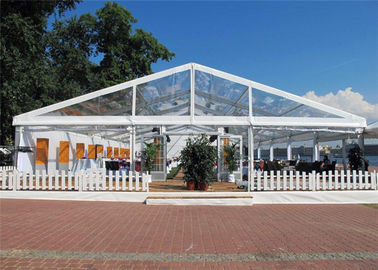 China Aluminum Alloy Easy Set Up Clear Event Tent Flame Resistant 18m * 20m Canopy supplier