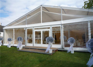 China Arabic Style Fire Proof Clear Event Tent Clear Party Tent 15m * 35m With Tables / Chairs supplier