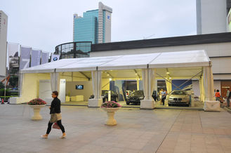 China Outdoor White Marquee Tents Waterproof Flame Resistant For Vehicle Carport supplier