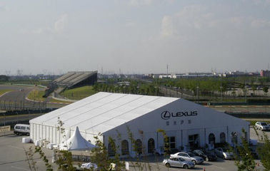 China 25mx30m Fabric Structure Exhibition Aluminium Frame Tents For Car Show supplier