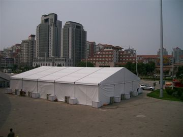 China Relocatable Building Safety Exhibition Tents Economical Wooden Flooring supplier