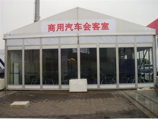 China Easy Install Classic Size Temporary Tent Building With Glass Wall supplier