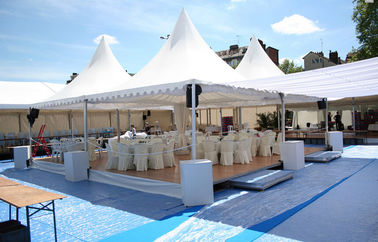 China Custom High Peak Pagoda Tents Marquee Tent For Wedding Golf Events supplier