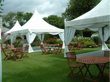 China Clear Orange Pagoda Tents Canopy Party Tent DIN4102 B1/M2/B1UV - Resistant supplier