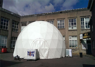China Water Resistant Large Half Dome Shelter 50 People Canvas Fabric Windproof Marquee supplier