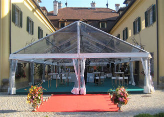 China Transparent Sidewall Romantic Large Wedding Tents Aluminum Alloy Structure Marquee supplier
