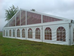 China White PVC Sidewall European Style Tents Aluminum Alloy Structure Party Canopy supplier