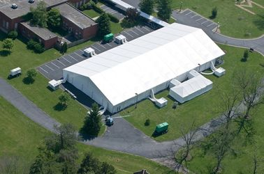 China 30mx50m White Cover European Style Marquee Tents , Large Span Event Canopies supplier