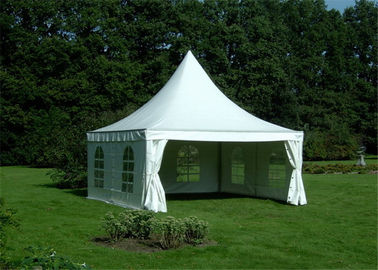 China Heavy Duty Clearspan Marquee Pagoda White Event Tent For 50 People supplier