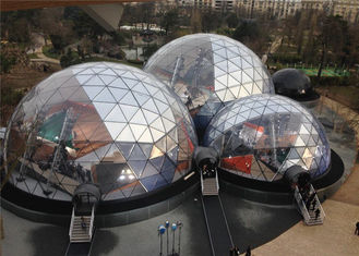 China Spacious 20M Diameter Geodesic Dome Tent With Transparent Fabric supplier