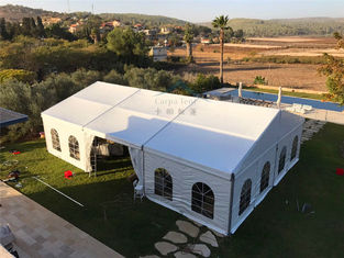 China 12mX21m Outdoor Event Tents Popular Waterproof  Fiire Retardant  White With Windows supplier