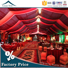 China Hot Sale Outdoor Event Tents Colorful Roof Lining Curtain Flooring For Activities supplier