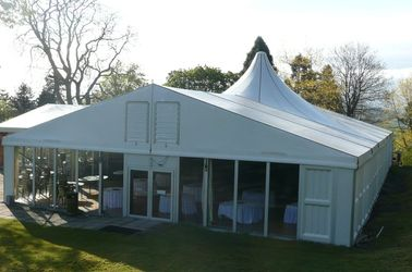 China Economical Large Wedding Tents With Decoration High Pressed Aluminum Alloy Frame supplier