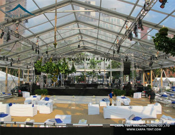 China 10x30m Transparent Roof Clear Event Tent / Waterprooof PVC Wedding Marquee supplier