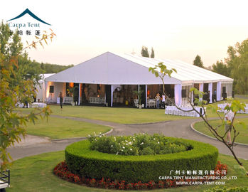 China Long Term 15 X 35 Outdoor Event Tents , 15m Clear Span White Marquee Wedding supplier