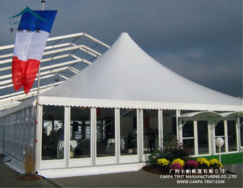 China Aluminum Large Pagoda Tents With Glass Wall / Outdoor Event Tent supplier