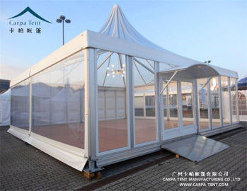 China UV Resistant Outdoor Big Event Pagoda Canopy Tent With Glass Wall supplier