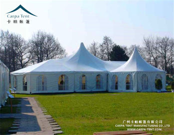 China Wind Resistant Clear Wall Outdoor Event Tents With High Peak Pagoda supplier