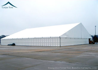 China White Durable 15m * 25m Large Industrial Storage Tent Flame Retardant supplier