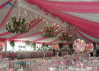 China European Style Wedding Reception Tent Waterproof Canopy Tent PVC Fabric supplier