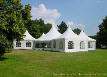 China Outdoor Emergency White Pagoda Tents Waterproof Fire Resistant Pvc Roof Pretty supplier