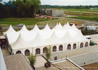 China White Outdoor Party Pagoda Tents  PVC Roof  Canopy Wedding Tent Water Proof 6m * 6m supplier