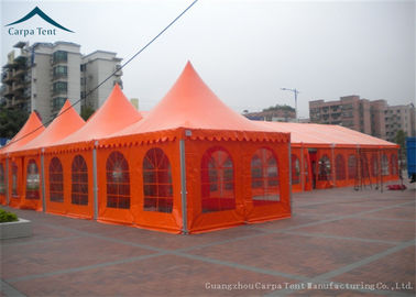 China Fireproof Colorful Big Span Pagoda Tents Party Thickness Over 60um 5m*5m supplier