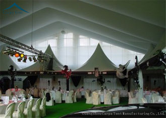 China 8m * 8m White PVC Roof  Outdoor Party Tents For Commercial  Event supplier