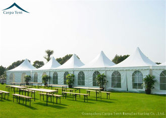China White PVC Fabric Pagoda Shape Outdoor Party Tents Aluminum Structure UV - Resistant supplier