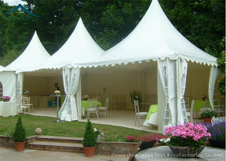 China White Pagoda Tents 5m * 5m UV - Resistant  Garden Wedding Reception supplier