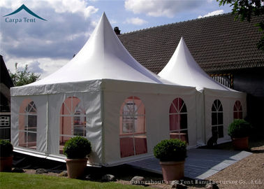 China Portable But Durable Pyramid Pagoda Tents / Aluminium Frame/ PVC Fabric Covers supplier