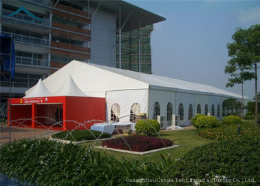 China Wind Resistant Extensive Outdoor Event Tents With Fabric Material For 200 People supplier