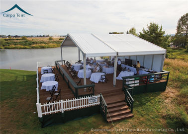 China White Commercial Event Tents 10m * 20m For Celebrations And Military Affairs supplier