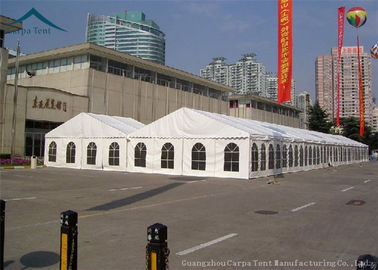 China 500 People White PVC Roof Exhibition Tents With Clear Windows supplier