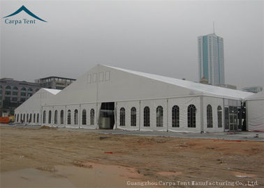 China 200 People White Exhibition Tents For Business Activities Wind Load 100km/h supplier