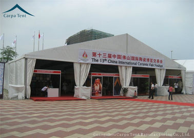 China Large Outdoor Furniture Exhibition Tents Green Red For 1500 People supplier