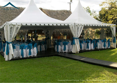 China White PVC Small Pagoda Tents For Commercial Activities Wooden Flooring supplier