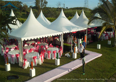 China Easy-Assembly Aluminium Frame Pagoda Tents For Outdoor Wedding Parties With 5m by 5m Size supplier